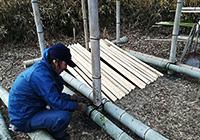 竹組みの小屋作り